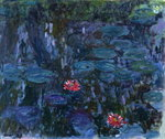 Fine Art Print of Waterlilies with Reflections of a Willow Tree, 1916-19 by Claude Monet