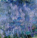 Fine Art Print of Waterlilies and Reflections of a Willow Tree, 1916-19 by Claude Monet