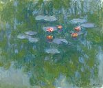 Fine Art Print of Waterlilies, 1916-19 by Claude Monet