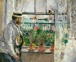Fine Art Print of Eugene Manet by Berthe Morisot