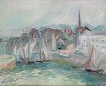 Fine Art Print of Boats in the Port of Honfleur, 1917 by Claude Monet