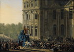 Fine Art Print of Transporting the Statue of Henri IV by Adolphe Roehn