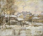 Fine Art Print of Snow Effect with Setting Sun, 1875 by Claude Monet