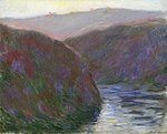 The Creuse Valley, Evening Effect, 1889 Poster Art Print by Claude Monet