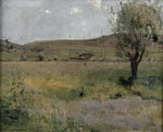 Fine Art Print of Summer landscape by Jules Bastien-Lepage