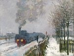 Train in the Snow or The Locomotive, 1875 Poster Art Print by Claude Monet