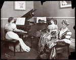 Piano recital, New York, 1907 Poster Art Print by Byron Company