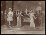 A scene from an amateur production of an unidentified play presented at Barnard College, New York Poster Art Print by Byron Company