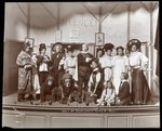 "The cast from an amateur production of a play titled ""When Mr. Shakespeare Comes to Town"" presented at Barnard College, New York"