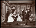 "A scene from an amateur production of a play titled ""My Lord in Livery"" Poster Art Print by Byron Company"