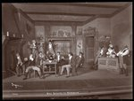 "A scene from an amateur production of ""She Stoops to Conquer"" Poster Art Print by Byron Company"