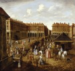 Covent Garden Piazza and Market, 1726-30 Poster Art Print by Mexican School