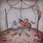 The Little Circus, 1980 Poster Art Print by Mary Stuart