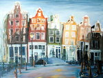 Houses of Amsterdam, 1999 Poster Art Print by Antonia Myatt