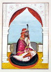 Rajah Suchet Singh, from 'The Kingdom of the Punjab, its Rulers and Chiefs, volume I', a volume of 27 watercolour studies by an unidentified Indian artist, c.1840 Poster Art Print by French School