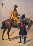 Soldiers of the 1st Duke of York's Own Lancers Poster Art Print by Alfred Crowdy Lovett