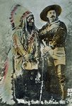 Sitting Bull and Buffalo Bill, c.1885 Poster Art Print by American Photographer