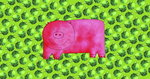 Pig with Green Apples, 2003 Poster Art Print by Pedro Diego Alvarado
