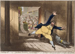 Stealing Off, or Prudent Secesion, published by Hannah Humphrey in 1798 Poster Art Print by English School