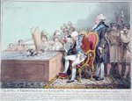 The King of Brobdingnag and Gulliver Poster Art Print by James Gillray