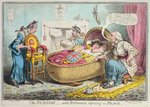 The Nursery! with Britannia reposing in Peace, published by Hannah Humphrey in 1802 Poster Art Print by James Gillray