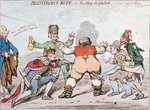 Blindman's Buff, or Too Many for John Bull, published by Hannah Humphrey in 1795 Poster Art Print by James Gillray