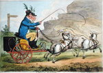 A Welch Tandem, published by Hannah Humphrey in 1803 Poster Art Print by James Gillray