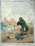Effusions of the Heart, or Lying Jack the Blacksmith at Confession, published by Hannah Humphrey in 1795 for the Philanthropic Society Poster Art Print by James Gillray
