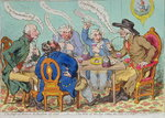 The Feast of Reason, & the Flow of the Soul - i.e. The Wits of the Age, setting the Table in a Roar, published by Hannah Humphrey in 1797 Poster Art Print by James Gillray