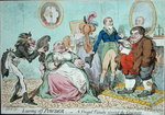 Leaving off Powder, or A Frugal Family saving the Guinea, published by Hannah Humphrey in 1795