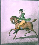 How to Ride with Elegance thro' the Streets, published by Hannah Humphrey in 1800 Poster Art Print by James Gillray
