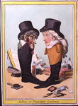 A Pair of Polished Gentlemen, published by Hannah Humphrey in 1801 Poster Art Print by James Gillray
