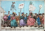 Procession to the Hustings after a Successful Canvass, published by G. Humphrey in 1784 Poster Art Print by James Gillray
