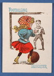 'Footballing Daughter', from the Happy Families card game, c.1890-1900 Poster Art Print by English Photographer