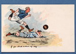 'If You Should Be Down My Way', football postcard, 1903 Poster Art Print by English School