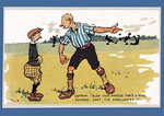'Captain - Blow Your Whistle That's A Foul', football postcard Poster Art Print by P.J. Crook