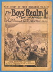 Front cover of 'The Boys' Realm of Sport and Adventure', no.295, Vol. VI, 25th January 1908 Poster Art Print by English School