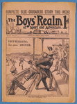 The Boys' Realm of Sport and Adventure, no.301, Vol. VI. 7th March 1908 Poster Art Print by P.J. Crook