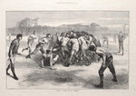 'A Match at Football: The Last Scrimmage', from 'The Illustrated London News', 25th November 1871 Poster Art Print by English School