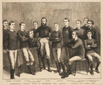 International Football Match at Kennington Oval: England vs. Scotland - The Scotch Team, from 'The Graphic', 1879 Poster Art Print by English School