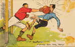 Fisting out the Ball, a mounted postcard Poster Art Print by English School