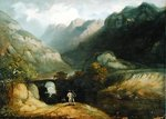 Pont Aberglaslyn, 1809 Poster Art Print by Joseph Mallord William Turner