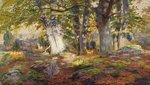 Fine Art Print of Autumn Sunlight after Rain, Fontainebleau by Andrew MacCallum