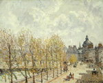 The Malaquais Quay in the Morning, Sunny Weather, 1903 Poster Art Print by Camille Pissarro