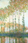 Poplars on the Banks of the Epte, Autumn, 1891 Poster Art Print by Claude Monet