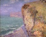 Cliffs at Grainval, 1902 Poster Art Print by Claude Monet