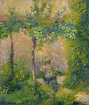 Woman in the Garden Poster Art Print by Pierre-Auguste Renoir