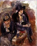 Hermine David and a Friend, 1914 Poster Art Print by Jules Pascin