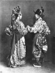 Fine Art Print of Chinese actors from behind, c.1870 by John Thomson