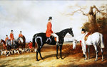 A Meet of His Majesty's Buckhounds Poster Art Print by Abraham Cooper